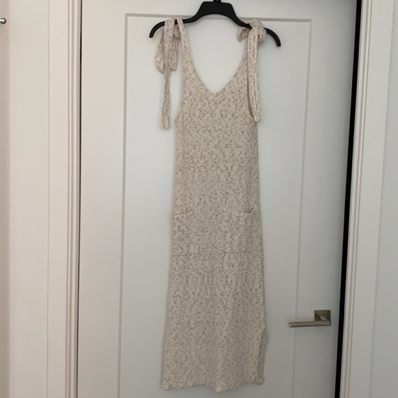 Vici Sweater Dress with pockets and tie straps